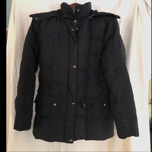 IZOD Black Down Hooded Jacket
